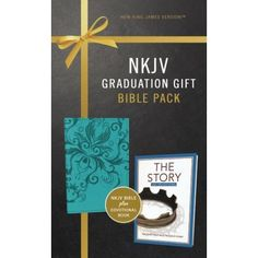 A perfect gift for the graduate, this Graduation Gift, Bible Pack includes an NIV Bible in a striking binding as well as The Story Devotional, featuring 365 daily Scripture readings. Daily Scripture, Scripture Reading, Graduation Quotes, Graduation Gifts For Her, Niv Bible, New King James Version, S Word, Book Format, Lettering