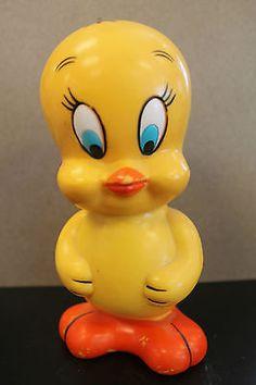 Vintage Looney Tune TWEETY BIRD BANK 1978 warner bros plastic