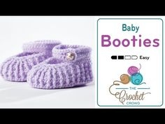 How to Crochet Baby Mary Jane Booties - YouTube