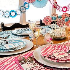 Gender Reveal Party Baby Shower Ideas - Party City for table setting idea Gender Party, Baby Gender Reveal Party, Gender Reveal Party Supplies, Reveal Parties, Baby Party, Baby Shower Parties, Baby Birthday, Baby Shower Cakes, Holidays And Events