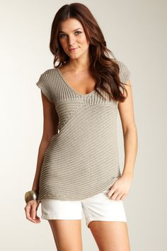 Bask Atelier Asymmetrical Ribbed Knit Top    $108