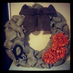 Burlap diy wreath