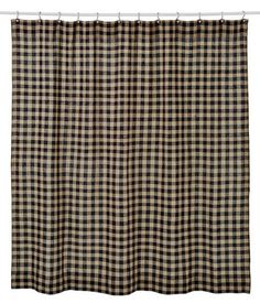 Burlap Black Check Shower Curtain Dress up your bathroom with one of our primitive country shower curtains. Each shower curtain measures comes unlined and is made from cotton. This shower Primitive Bathrooms, Primitive Kitchen, Country Primitive, Vintage Bathrooms, Chic Bathrooms, Primitive Shower Curtains, Burlap Shower Curtains, Tan Shower Curtain, Black Shower Curtains