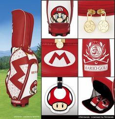 Mario Golf bag and accessories