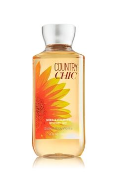 Country Chic Shower Gel - Signature Collection - Bath & Body Works - A breath of fresh air! Inspired by the natural beauty of the countryside, Country Chic is a carefree blend of wildflowers, wood & citrus Top Notes: Sparkling Lemon, Grapefruit Zest, Juicy Pear, Marigold Mid Notes: Fresh Raspberry, Golden Sunflower, Day Lily, Sheer Gardenia, Orange Blossom Dry Notes: Peach Nectar, Vanilla Orchid, Cedar Wood, Amber Wood, Airy Musk
