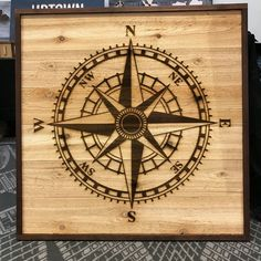 Compass Rose Wooden Wall Art by UptownWoodworks on Etsy
