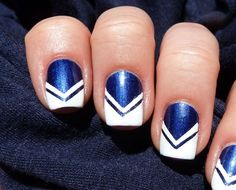 I'm a cheerleader an here's Cheerleading nails!:)
