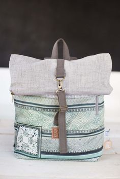 Backpack India in Grey