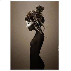 Ruben Ireland Frau Portrait Print, Kunst, Kollagen, Acrylbilder, Wandbilder, gerahmte Poster, ungerahmte Poster, Designbilder, Leinwände,  Alu-Dubonds, Geschenkideen jetzt online kaufen auf PURISD.de