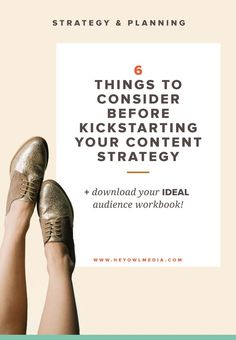 Planning out your online content strategy takes time. I'll walk you through 6 areas that will help you prep before spending hours of wasted resources. Let's get your started on the right track!   online business tips