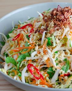 Low FODMAP and Gluten Free Vietnamese chicken salad
