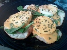 Eggs Benedict...Instead of Canadian Bacon, I used Spinach for a healthier version. #eggsbenedict