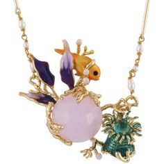Les Néréides ATLANTIDE SWIMMING FISH IN THE MIDDLE OF THE ATLANTIS... ($231) ❤ liked on Polyvore featuring jewelry, necklaces, jewelry necklaces, multicolor, tri color jewelry, colorful jewelry, colorful necklaces, octopus necklace and les nereides jewelry