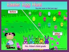 Smartboard Easter Egg Hunt Attendance