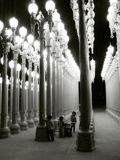 """""""Urban Lights"""" - The title of an Art Installation  at Los Angeles County Musuem Of Art (LACMA), the work of Sculptor Chris Burden. Read more here: http://collections.lacma.or... At the top of my favorite public art in LA."""