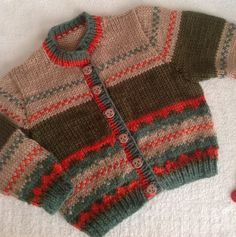 Ravelry: Autumn Breeze Cardigan pattern by Mary Edwards Kids Knitting Patterns, Baby Cardigan Knitting Pattern, Knitting For Kids, Baby Patterns, Knit Cardigan, Knitting Projects, Fair Isle Knitting, Arm Knitting, Knit Baby Sweaters