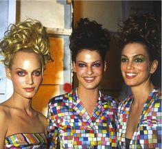 Todd Oldham 1995 – Amber Valletta, Linda Evangelista, Cindy Crawford AMAZEBALLS.