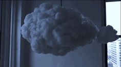 "Using motion sensors, the ""Cloud"" is able to create a unique thunder and lightning show based on the user"