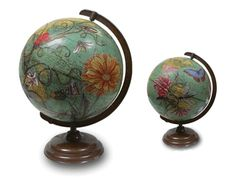 altered globes | globe art | Altered Crafts....thinking beyond the box