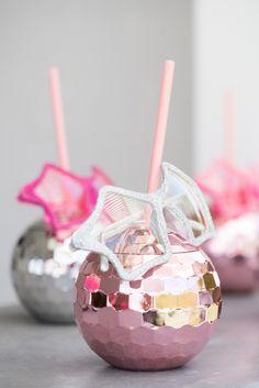 Disco ball drink cup and star sunnies from a Glam Pop Star Birthday Party on Kara's Party Ideas | KarasPartyIdeas.com (15)