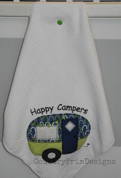 Raggy Camper Applique Easy Camper Machine by CountryPrimDesigns, $2.99. I'm soooo making these for the camper.