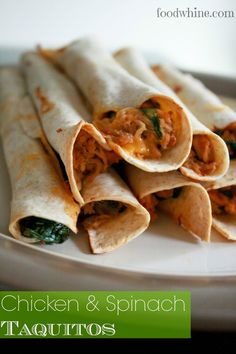 Chicken and Spinach Taquitos |