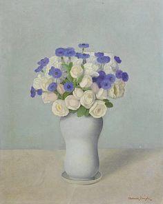 Antonio Donghi. Vaso di fiori 1935