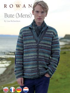 Bute - Mens fairisle cardigan for intermediate knitters - by Lisa Richardson - pattern available also in german, french and dutch