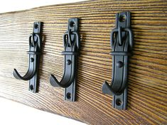 USD 17.00 Forged hook black color Wall hook Decorative hook Bathroom hook Kitchen hook Entryway coat hooks Belt hook Towel hook Key hook Solid iron