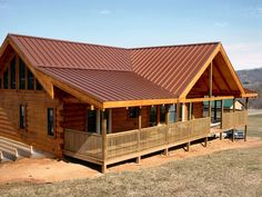 Metal roof colors and house facade - the right combination Metal roof colors and house facade – the right combination Metal Roof Houses, House Roof, Garage House, Metal Buildings, Farm House, House Porch, Roof Design, Exterior Design, Metal Roof Colors