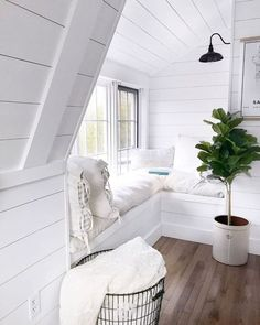 Style Cottage, Attic Renovation, Bedroom Windows, Bay Windows, My New Room, Home Decor Bedroom, Diy Bedroom, Trendy Bedroom, Cozy House
