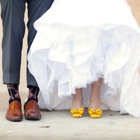 Yellow wedding shoes - SURPRISE!