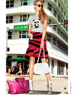visual optimism; fashion editorials, shows, campaigns & more!: bags of style: vika costa by peter pedonomou for uk cosmopolitan august 2013