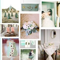 Blush Pink Light Green Ivory and Gold Inspiration
