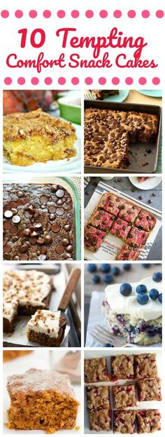 10 Tempting Comfort Snack Cakes You Probably Need To Try  #snack cake #snack #cake #comfort food #baking
