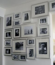 Office-using silver frames. These can be sourced at Michael's, IKEA. Consider using large photos for greater impact