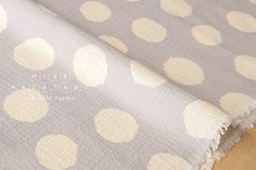Japanese Fabric Kokka big dots gauze - B - 50cm