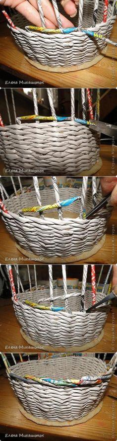 Entangling la parte superior de la canasta.