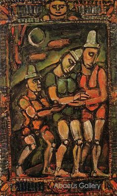 The Injured Clown, 1932, Georges Henri Rouault