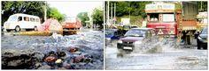 #Pune जलवाहिनी 'फुटी' लाखो लिटर पाणी वाया !!