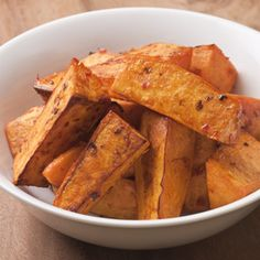 Chile-Garlic Roasted Sweet Potatoes Recipe - http://recipes.millionhearts.hhs.gov/recipes/chile-garlic-roasted-sweet-potatoes