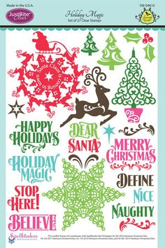 Justrite PaperCraft | Holiday Magic, Christmas stamps | Clear stamps |