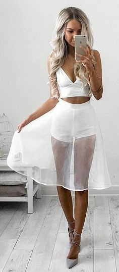 #summer #style | Hot White and Tulle                                                                             Source