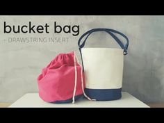How to Sew Round Base Bucket Bag with Drawstring Insert and Adjustable Strap 1 - YouTube
