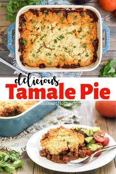 Tamale Pie ~ this easy dinner recipe features a zesty, flavorful ground beef filling with a delicious baked topping made of masa. The result is meal that tastes amazingly like a beef tamale and can…