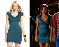 Use the code 'PERFCT' for an extra 15% off!  GUESS Cap Sleeve Tulip Hem Dress - $59.00 (50% off!) - As seen on Naya Rivera (Santana) on Glee.