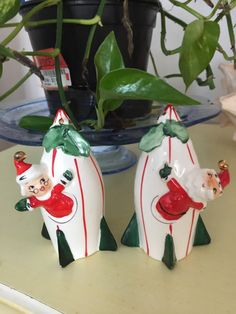 Vintage Holt Howard Santa and Mrs Santa on by ShakeAndPassTheSalt