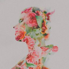 Double Exposure Portraits (by Sara K Byrne) On tumblr