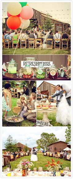 Country fair style wedding :) Love the refreshments! Exactly what I had in mind!