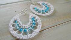 2 Pretty Crochet Wire Hoop Earrings Tutorials ~ The Beading Gem's Jour… Crochet Jewelry Patterns, Crochet Earrings Pattern, Crochet Accessories, Crochet Designs, Fancy Earrings, Bead Earrings, Earring Tutorial, Beads Tutorial, Tutorial Crochet